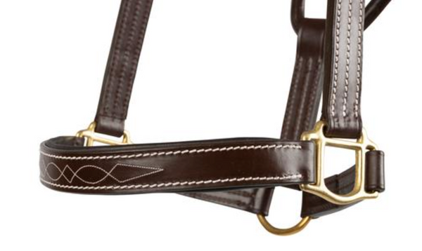 HUNTLEY LEATHER PADDED FANCY STITCH HALTER