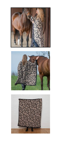 ECO IN GREEN EQUESTRIAN HORSE BITS THROW
