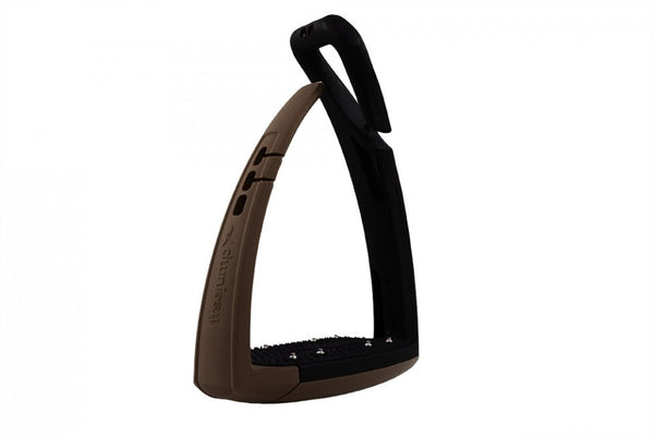 Freejump Soft'Up Stirrup Irons - Brown Detail