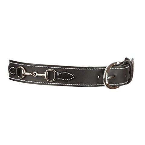 Huntley Kids Black Leather Snaffle Bit Belt