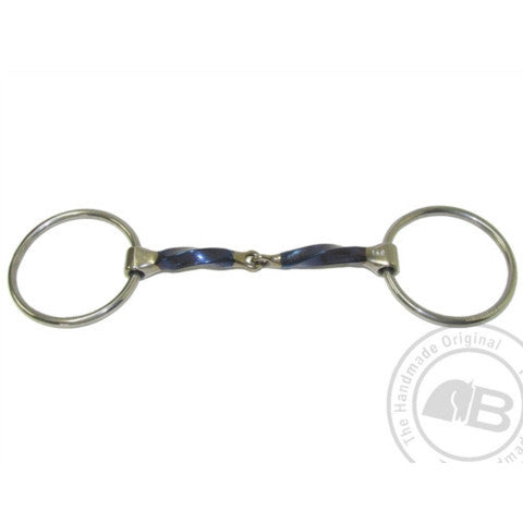 Bomber Loose Ring Snaffle Slow Twist Bit