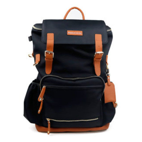 MaeLort Tan and Black Backpack
