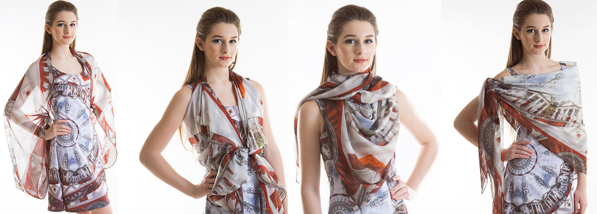 'Ascendance' Charleston Scarf ways to wear