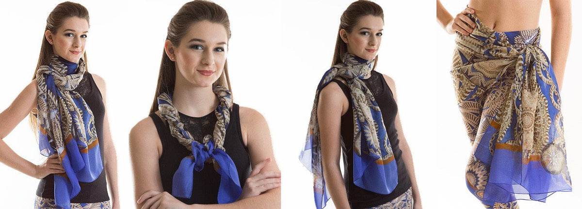 'Manifold' Charleston Scarf ways to wear