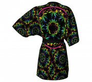 Alcapulco Gold Cannabis Chic Kimono back Wendy Newman Designs