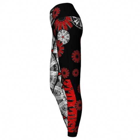 'Determined' Asheville Yoga Leggings