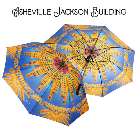 Citified Asheville Fan Umbrella Jackson Building Wendy Newman Designs