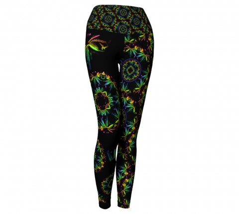 AbacaCannabis Chic Yoga Leggings Wendy Newman Designs
