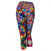 Adventure Balloon Yoga Capris back Wendy Newman Designs