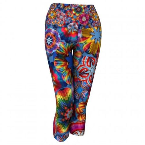Adventure Balloon Yoga Capris front Wendy Newman Designs
