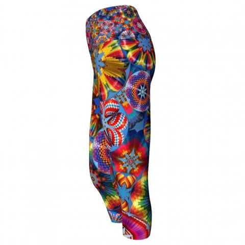 Adventure Balloon Yoga Capris side Wendy Newman Designs