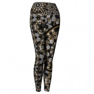 'Amusia' Masquerade Yoga Leggings