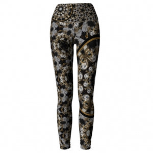 'Amusia' Masquerade Yoga Leggings - front
