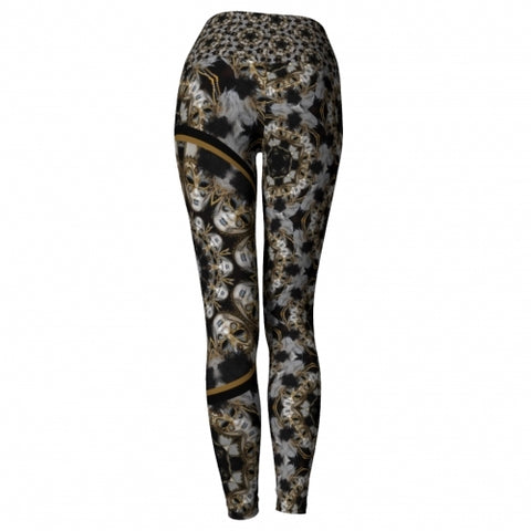 'Amusia' Masquerade Yoga Leggings - back