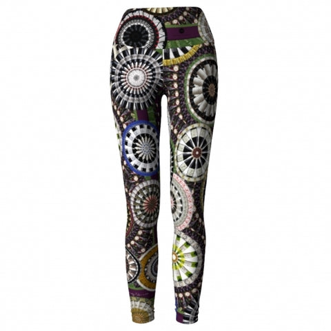 'Bacchus' Winery Yoga Leggings - front