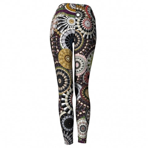 'Bacchus' Winery Yoga Leggings - back