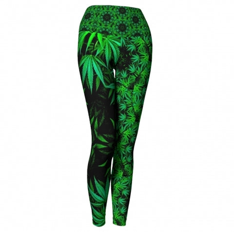 Cannabis Chic Yoga Leggings Wendy Newman Designs