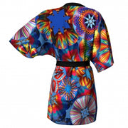 Blue Sky Balloon Kimono back Wendy Newman Designs