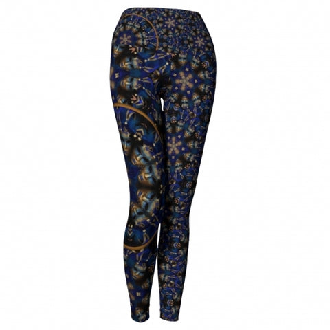 'Eclipse' Masquerade Yoga Leggings