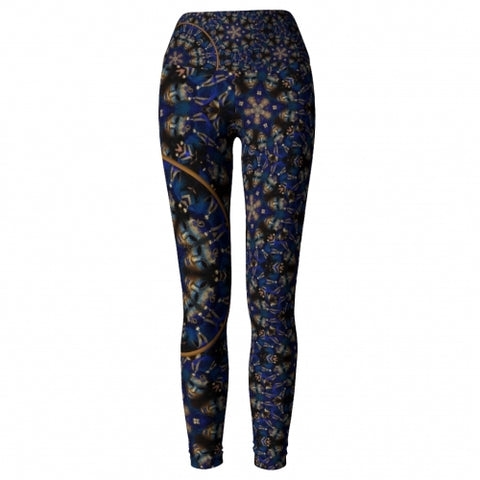 'Eclipse' Masquerade Yoga Leggings - front