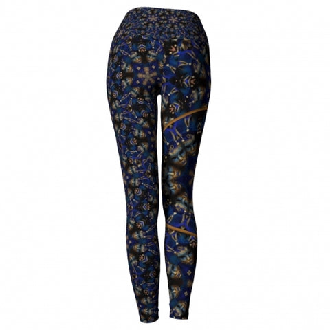 'Eclipse' Masquerade Yoga Leggings - back