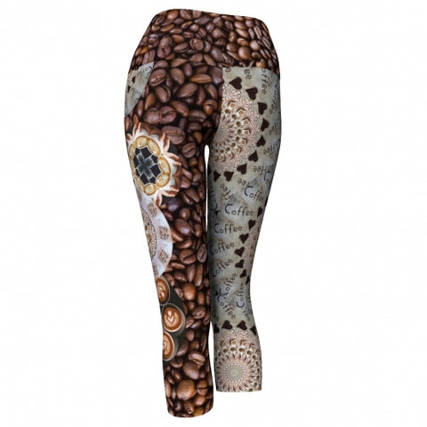 Macchiato Coffee Yoga Capris back