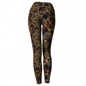 'Eutychia' Masquerade Yoga Leggings - back