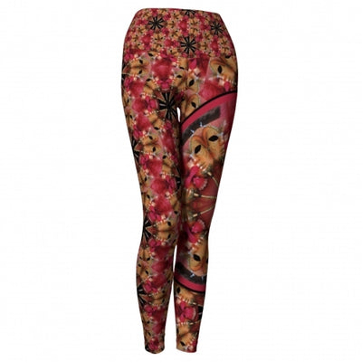 Exultation Masquerade Yoga Leggings Wendy Newman Designs