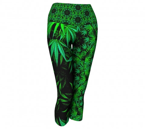 Flax Cannabis Chic Yoga Capris Wendy Newman Designs