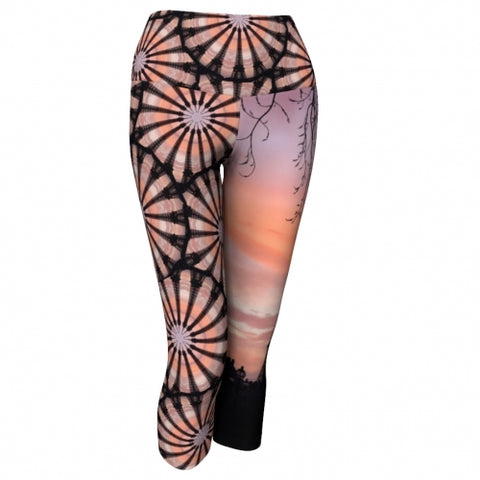 'France' World Tour Yoga Capris - front