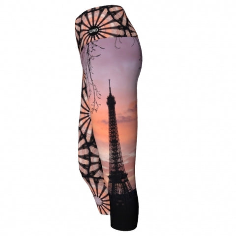 'France' World Tour Yoga Capris - side