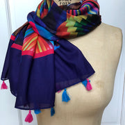 Helim Hot Air Balloon Scarf With Tassels Wendy Newman Designs 3