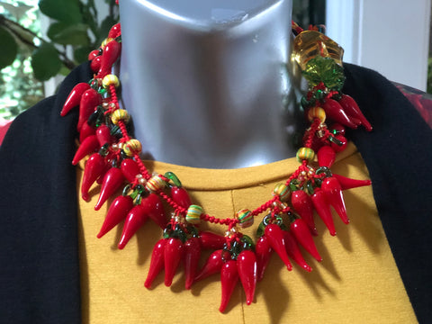 Chow Chow Festival Chili Pepper Necklace