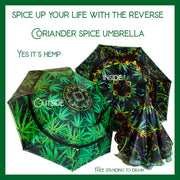 'Coriander' Spice  Umbrella Wendy Newman Designs neon hemp self standing