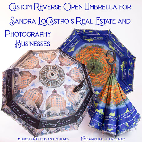 Custom Umbrella from your photo lWendy Newman Designs Real Estate and Photo business