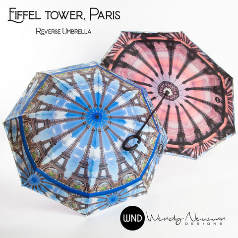 Parisian World Tour Reverse Umbrella Wendy Newman Designs