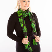 Parsley spice silk scarf Wendy Newman Designs  wrap tie