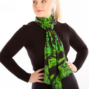 Parsley spice silk scarf Wendy Newman Designs  Loop tie