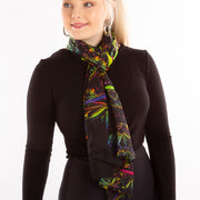 Black Pepper spice scarf Wendy Newman Designs loop tie