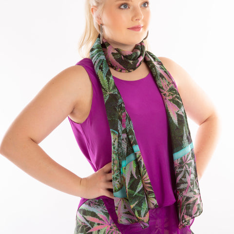 Fenugreek spice scarf Wendy Newman designs  wrap tie