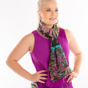 Fenugreek spice scarf Wendy Newman designs  loop tie