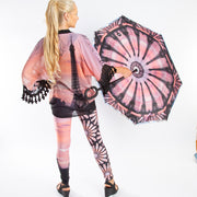 Eiffel World Tour Yoga Leggings with umbrella and kimono