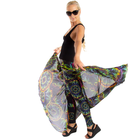 Custom Silk Wrap Skirt Wendy Newman Designs Hemp neon