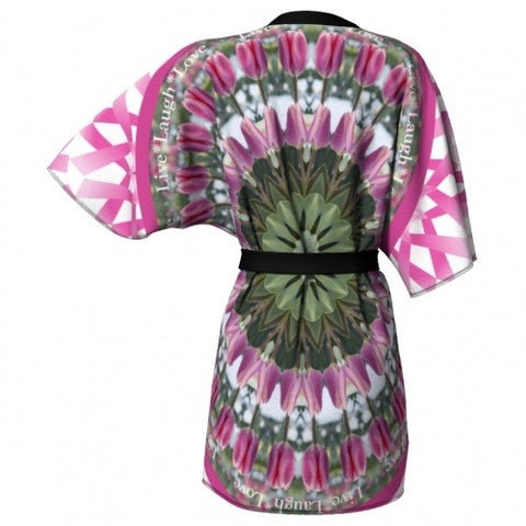 Mettle Breast Cancer Awareness Kimono back view Wendy Newman Designs