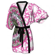 Mettle Breast Cancer Awareness Kimono front view Wendy Newman Designs