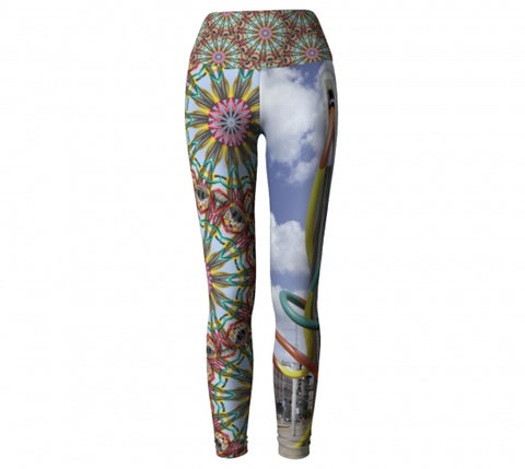 'Milan' World Tour Yoga Leggings front 2 Wendy Newman Designs