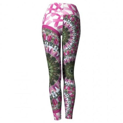 Moxie Breast Cancer Awareness Yoga Leggings back Wendy Newman Designs