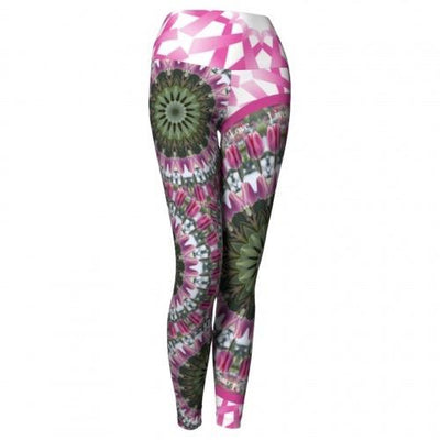 Moxie Breast Cancer Awareness Yoga Leggings Wendy Newman Designs