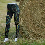 AbacaHemp Yoga Leggings side front Wendy Newman Designs