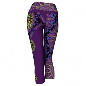 'Phylactery' Asheville Yoga Capris - back